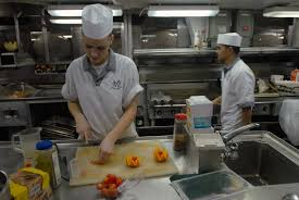 Navy Cook Stock Photography Image Of Navy Cooks Preparing Food For The