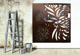 exterior wall art wall art ideas design chrysanthemum wooden high on external wall art ideas with surprising outdoor wall art ideas images best image engine