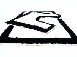 black gray white bath rugs striped rug bathroom runner mats rugged nice furniture likable