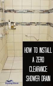 zero clearance inline shower