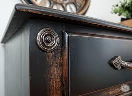 distressed wood furniture diy. Distressed-pottery-barn-black-finish Distressed Wood Furniture Diy