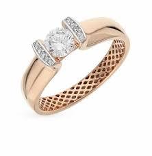 Золотые <b>кольца 585 пробы</b> с фианитом — купить недорого в ...