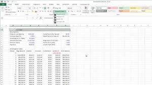 Amortizationpreadsheet Excelchedule Mortgage Car Loan Formula