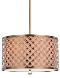antique brass drum pendant light 17 5 w