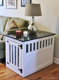 diy dog kennel table pet crate end table this is really creative diy dog kennel table plans