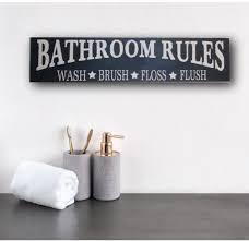 Bathroom sign for home Bathroom Decor Creatively Custom Designs By Oak Ridge Prims Rustic Bathroom Sign Home Decor Rustic Bathroom Rules Sign