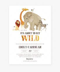 Safari Baby Shower Invitation Template Download By Indian