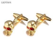 <b>Lepton</b> Mens <b>Jewelry</b> Superman cufflinks High Quality Copper Skull ...