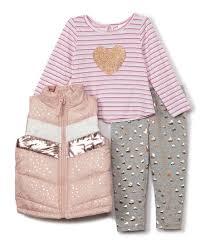 Nannette Baby Clothing Size Chart Nannette Baby Light Pink Puffer Vest Set Infant