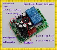 220V 2 Channel RF Wireless Remote Control Switch System Remote