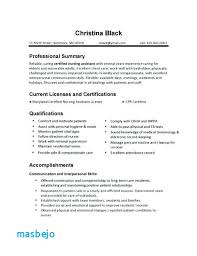 Cna Resume Skills Simple Cna Resumes Examples Sample Cna Resume Qualifications And Skills