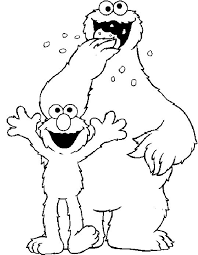 Baby Cookie Monster Coloring Page At Getdrawingscom Free For