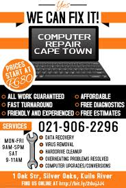 Computer Repair Flyer Template Interesting Computer Repair Ad Tomburmoorddinerco