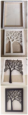 diy cut canvas tree art