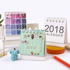 jianwu cute cartoon mini desk calendar 2017 2018 small desk calendar kawaii