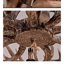 Großhandel Geweih Kronleuchter Vintage Style Resin Hirsch Horn Geweih Kronleuchter 8 Lichter Glühbirnen Enthalten Antler Maultier Hirsch Kronleuchter