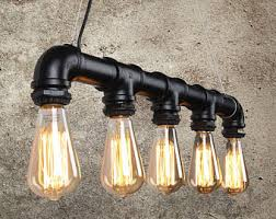 etsy lighting. free bulbs industrial pipe ceiling light pendant 5 bulb chandelier antique hanging vintage metal etsy lighting