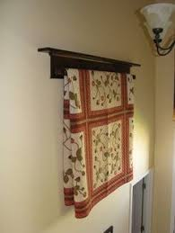 Primitive Quilt Rack - 42  Long - Rustic Country Style Wall ... & Wall Hanging Quilt Rack and Shelf ~ Have one for our living room, love it Adamdwight.com
