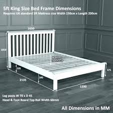 king size bed frame dimensions. Modren Frame Bed Frame Sizes In Inches King Size Dimensions Measurement Cm Of With N