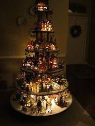 Christmas Tree Village Display Stands HOW TO BUILD A Village House Display Stand Dept 100 Lemax Christmas 5