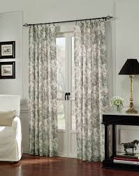 View in gallery french doors drapes black white toile