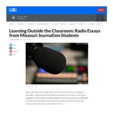 magazine writing students use radio essays to tell stories  advanced writing capstone class