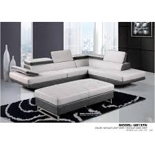 Living Rooms With Ottomans Cool U48nsectionalr Bonded Natalie Light Grey Global Furniture