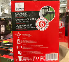 Smartyard Small Led Pathway Lights 6 Pack Smartyard Solar Led Pathway Lights 6 Pack Costco Weekender