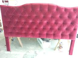 Velvet High Headboard Bed Double Tufted Twin.