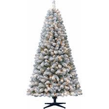 Artificial Christmas Tree Pre-Lit 6.5' Crystal Pine, Clear Lights -  Walmart.com