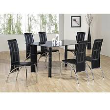 heartlands worcester glass dining table set 6 chairs for innovative dining tables and 6 chairs