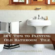 diy bathroom wall tile how to paint over bathroom wall tile new tips to painting old