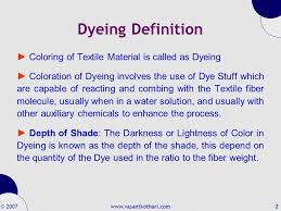 Dyeing By Vasant Kothari Ppt Video Online Download