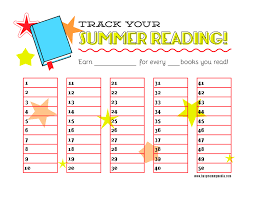 Free Printable Reading Incentive Charts Free Printable Summer Reading Chart