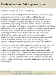 Sample Technical Resume Amazing Top 48 Rd Engineer Resume Samples
