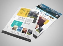 paper flyer travel tourism templates mycreativeshop
