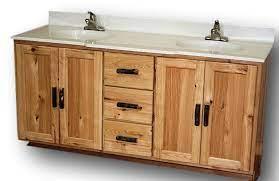 Rustic Hickory Vanity Vienna Woodworks