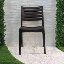 stackable black plastic outdoor