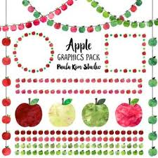 teacher apple clipart no background. apple clip art watercolor graphics pack teacher clipart no background