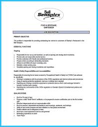 ... bartending resume no experience and bartendending resume builder ...