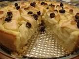 apple rum custard cake