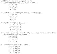 Berikut ini adalah soal ulangan tengah semester (uts) atau yang dalam kurikulum 2013 dinamakan dengan penilaian tengah semester (pts) mata pelajaran matematika kelas 7 semester 1 (ganjil/gasal) kurikulum 2013. Pts Matematika Kelas 7 Semester 2 Ilmusosial Id