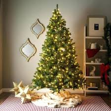 7 foot lit artificial tree w clear or 9 ft unlit trees with hinged branches amusing christmas5
