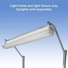 overhead sealed led light fixture and light frame for 72 bench
