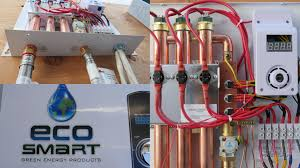 how the ecosmart eco electric tankless water heater works how the ecosmart eco 27 electric tankless water heater works