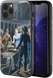 Amazon.com: John Lewis Krimmel for iPhone 12 / iPhone 12 Pro Case/Art  Cellphone Case/Giclee UV Reproduction Print on Mobile Phone Cover(Nightlife  in Philadelphia—an Oyster Barrow in Front of)