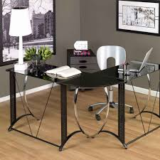 white modern office chair white rolling. L Shape Black Glass Office Desk And Metal Chair Also Rolling Cabinet: White Modern