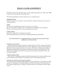 example of cause and effect essay outline writing the cause and  gallery of cause and effect essay examples example of cause and effect essay outline