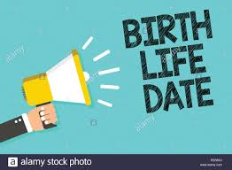 How To Plan Baby Birth Date Writing Note Showing Birth Life Date Business Photo