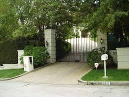 strange celebrity home security gates neil diamond home security gates31
